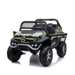 Электромобиль Mercedes-Benz Unimog Concept P555BP 4WD камуфляж (полный привод, колеса резина, кресло кожа, пульт, музыка)